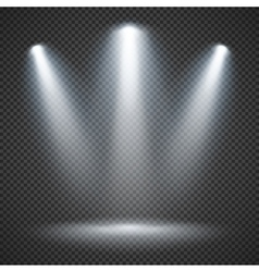 Scene illumination with bright lighting of vector image vector image