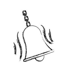 School bells chain hang alarm icon vector