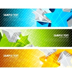 Set of banners with star vector