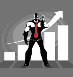 Successful business growth vector
