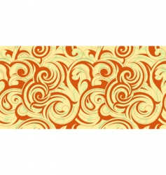swirly floral abstract vector image vector image