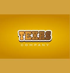 Texas western style word text logo design icon vector