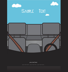 view from inside car vector image