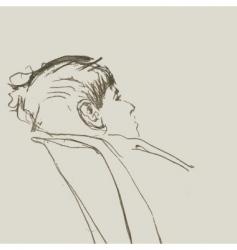 young boy sketch vector image vector image