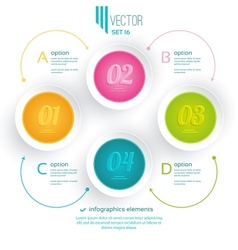 Four colorful icons vector