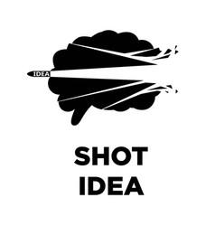 brain shot idea icon creative thinking concept vector image