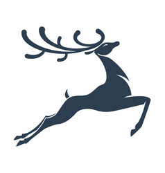 Deer silhouette christmas vector