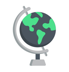 globe flat icon world and geography vector image
