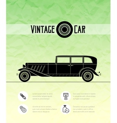 Retro car vintage outline style vector