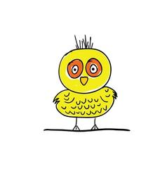 bird funny cartoon vector image