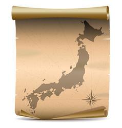 Japan vintage map vector