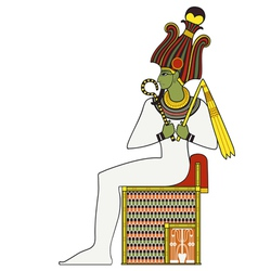 Osiris isolated figure of ancient egypt god vector