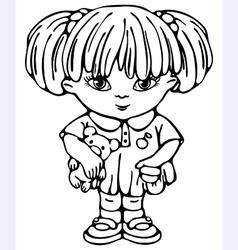 small girl vector image