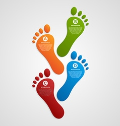 Foot modern design template infographics vector