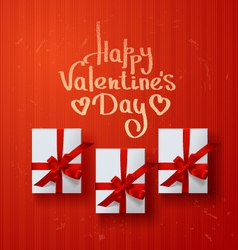 Valentines card gift box vector