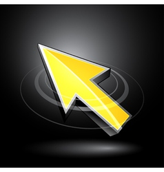 Yellow directional arrow vector