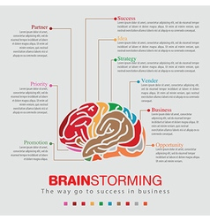 Brainstorming sprit color infographic vector