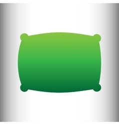Pillow sign green gradient icon vector