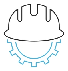 Development hardhat outline icon vector