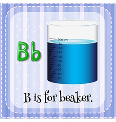A letter b for beaker vector