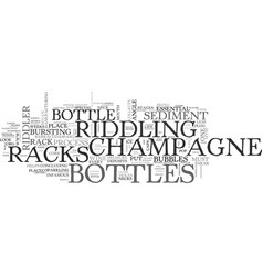 A look at champagne racks text word cloud concept vector