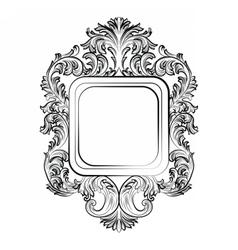 Baroque Rococo Exquisite Mirror frame vector image vector image