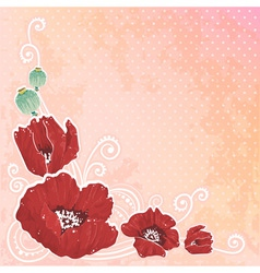 Beautiful spring floral postcard vector image