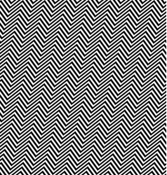 Black white angular seamless zig zag line pattern vector
