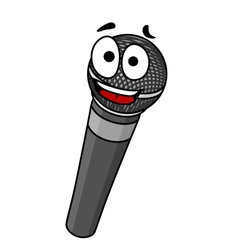 Cartoon handheld microphone vector image