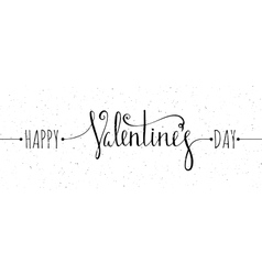 Chalk textured happy valentines day inscription vector