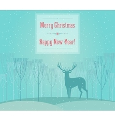 Christmas deer Merry Christmas and Happy New Year vector image
