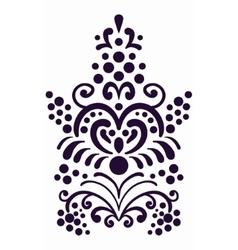 Decorative border element old style wallpaper vector