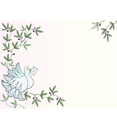 Dove with letter thumb vector image vector image