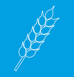 Ear of wheat icon outline style vector