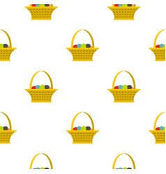 Easter basket pattern seamless vector