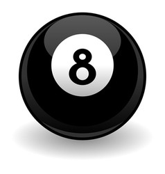 eight ball vector image vector image
