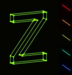 EPS10 glowing wireframe letter Z - easy to change vector image vector image