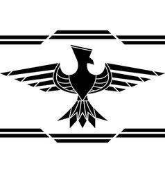 fantasy bird stencil vector image vector image