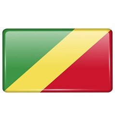 Flags Congo Republic in the form of a magnet on vector image vector image