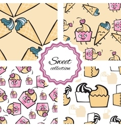 Friendly cheerful Seamless pattern with hand drawn vector image vector image