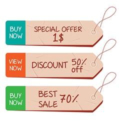 Paper labels set vector