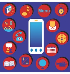 Phone and menu vector