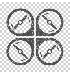 Quadcopter screws rotation grainy texture icon vector