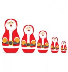 Russian Santa Claus dolls vector image vector image