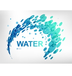 Sign water spray vector image