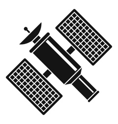 Space satellite icon simple style vector