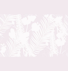 Subtle seamless pattern with drawn flowers and vector