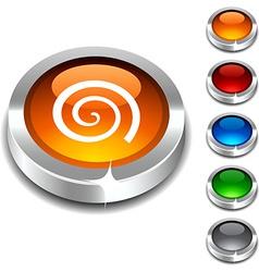 Swirl 3d button vector