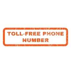 Toll-free phone number rubber stamp vector