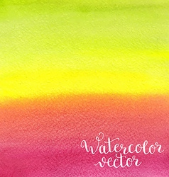 Watercolor hand painted background vector image